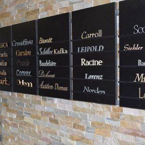 Letters grafstenen